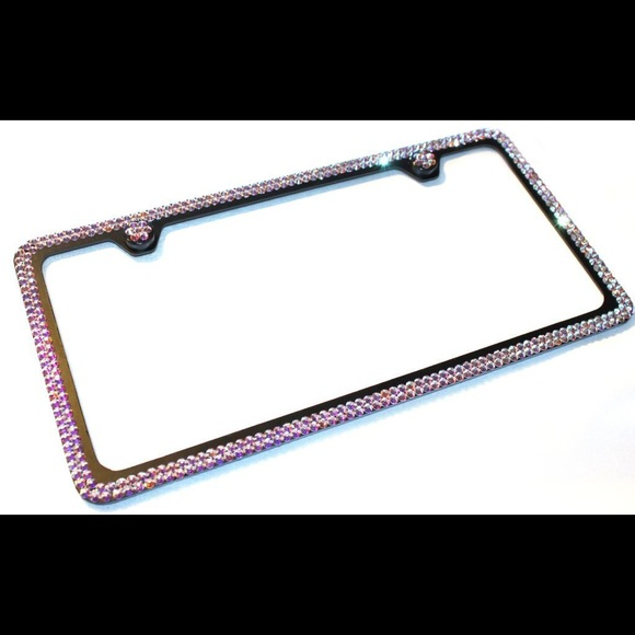 Accessories | Swarovski License Plate Frame | Poshmark